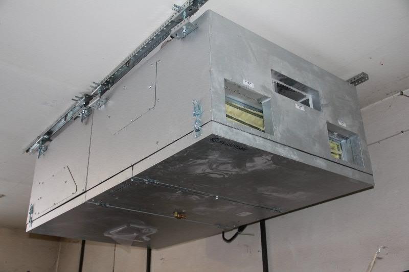 монтаж высоконапорного канального кондиционера в Сбербанке